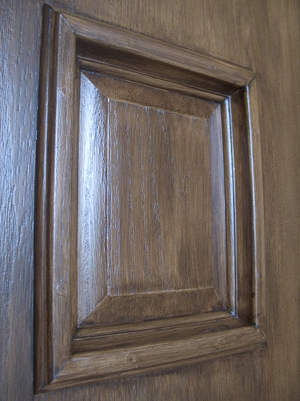 Faux Wood Door Closeup