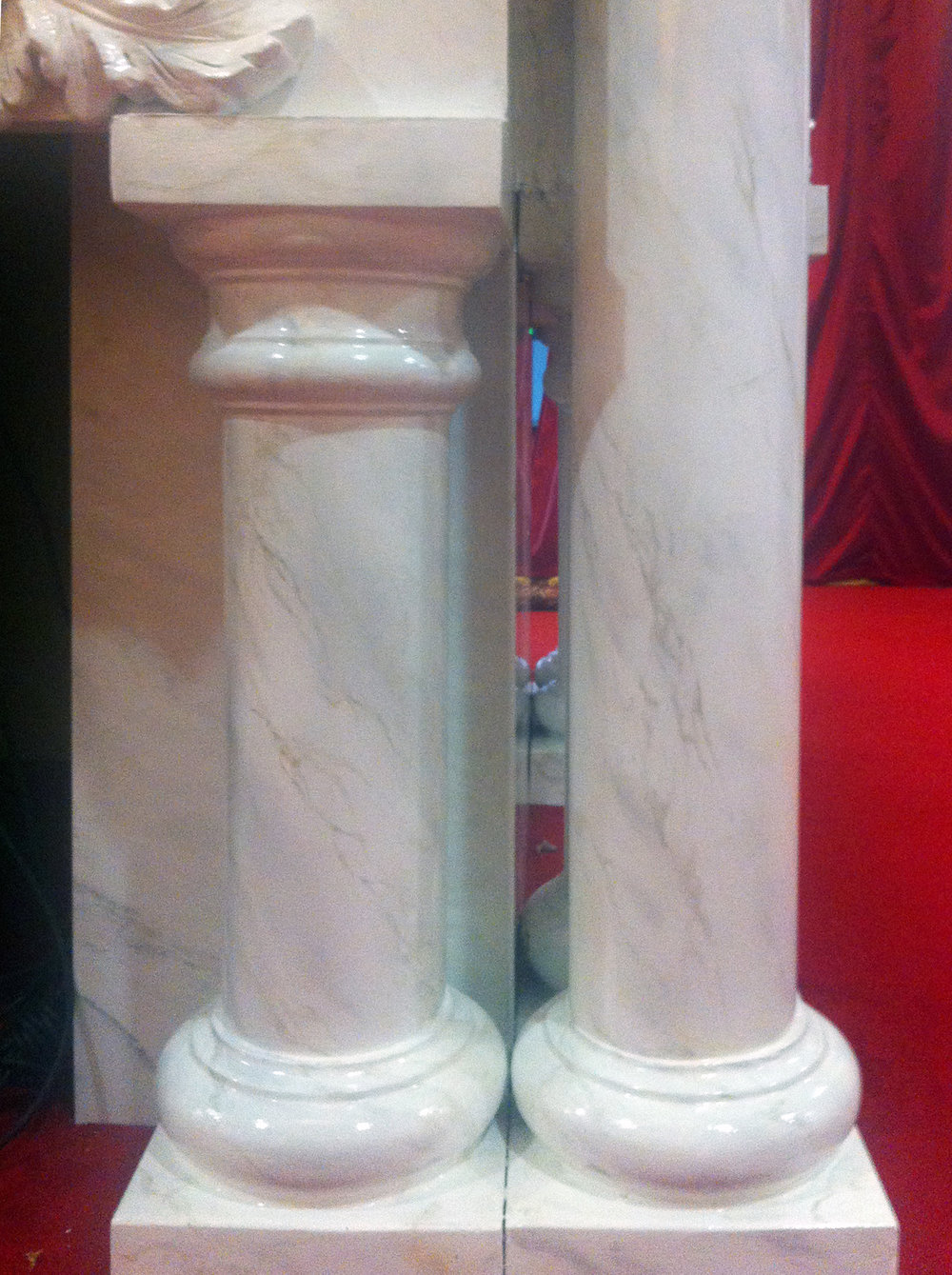 Faux Marble Altar & Column