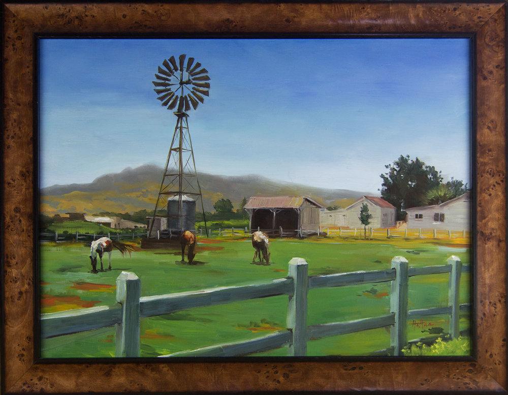 Horse Farm, Fine Art Landscape