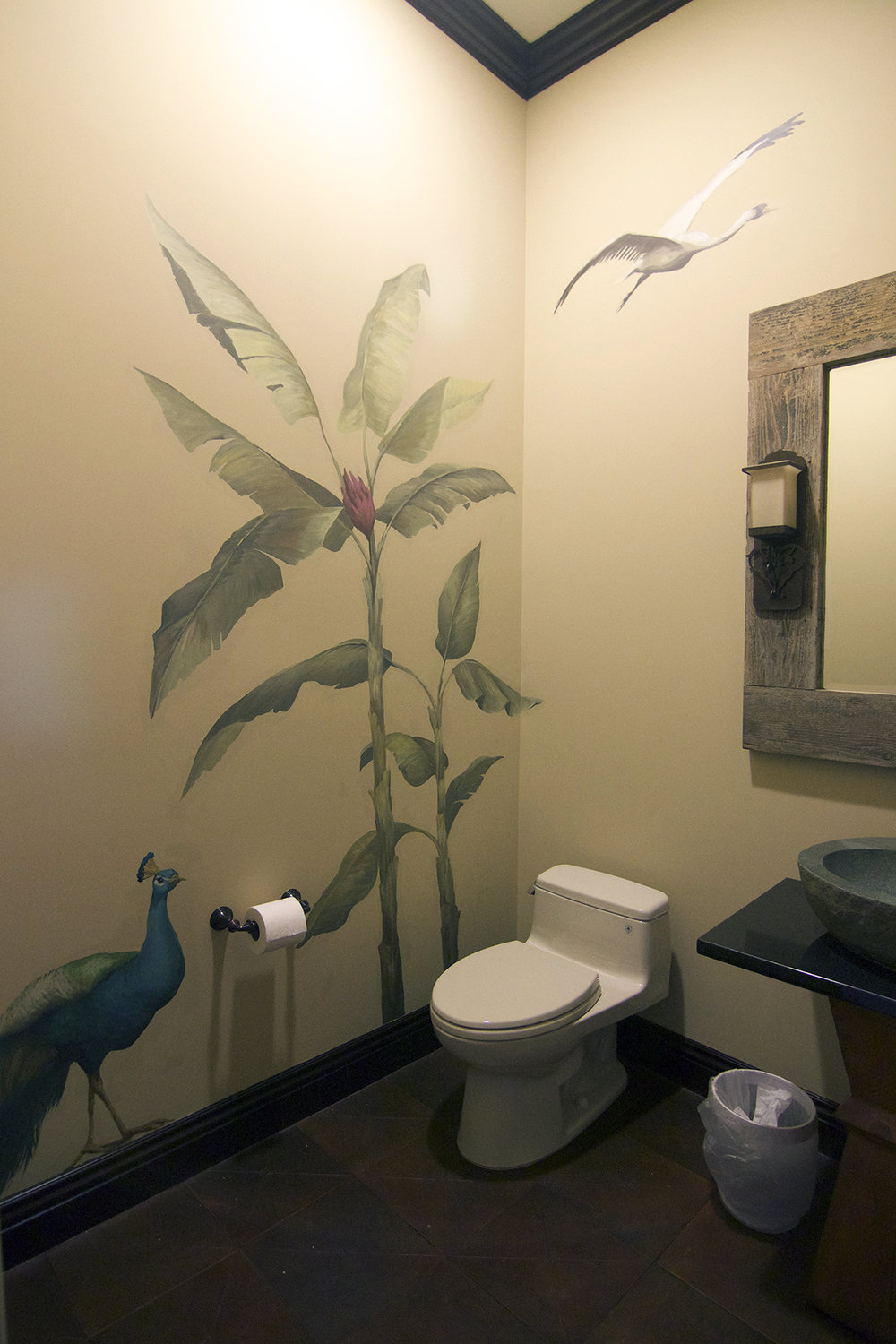 Peacock Powder Room