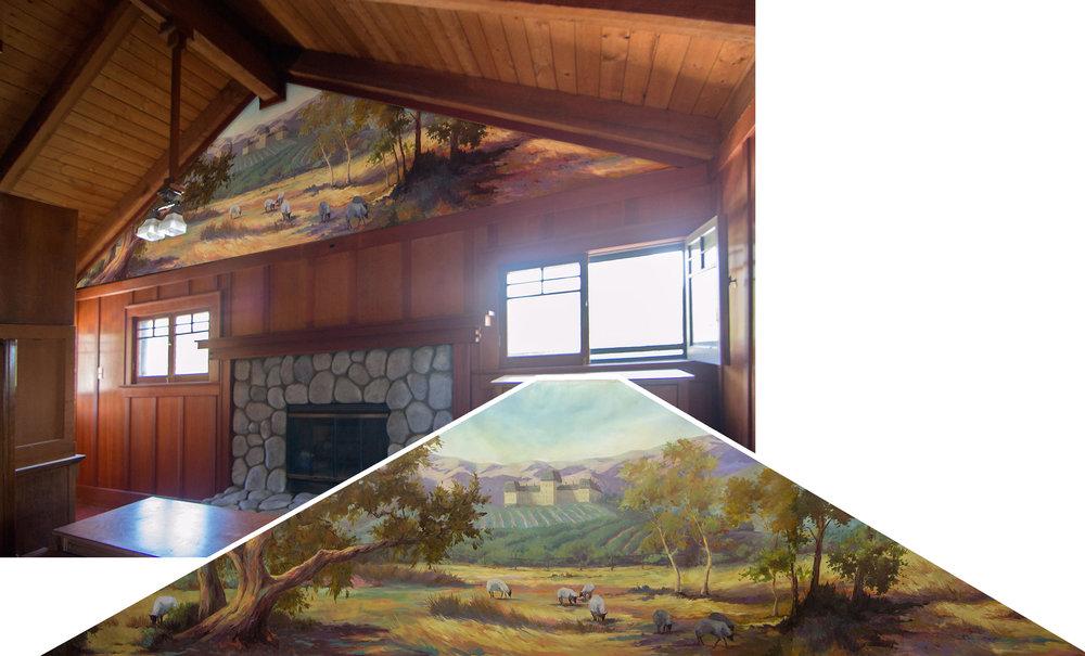 Raymond Hotel Historical Mural