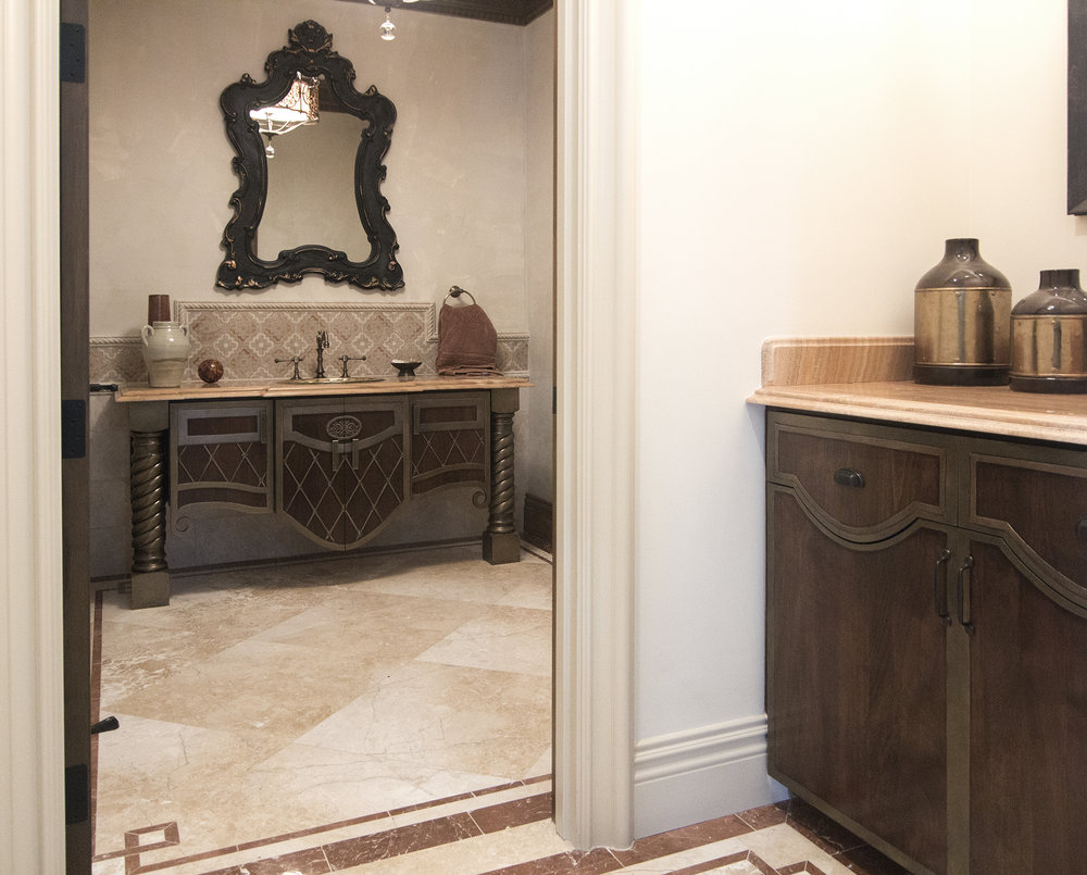 Walnut Powder Room