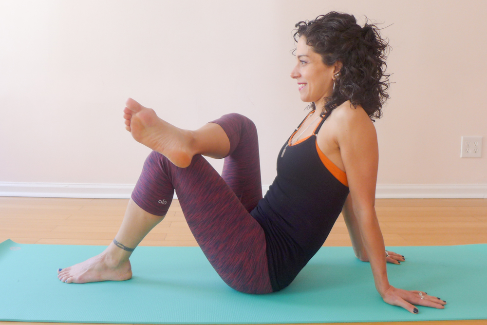 6. HALF ANKLE-TO-KNEE POSE