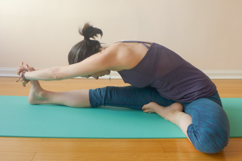 4. HEAD OF THE KNEE POSE (JANU SIRSASANA)