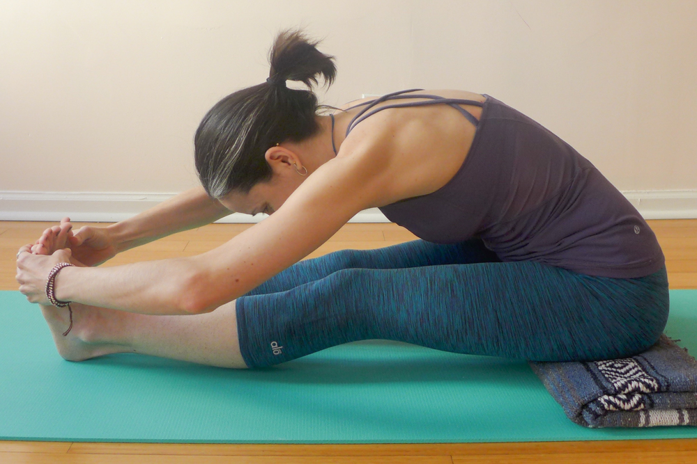 6. STRAIGHT-LEGGED SEATED FORWARD BEND (PASCHIMOTTANASANA)