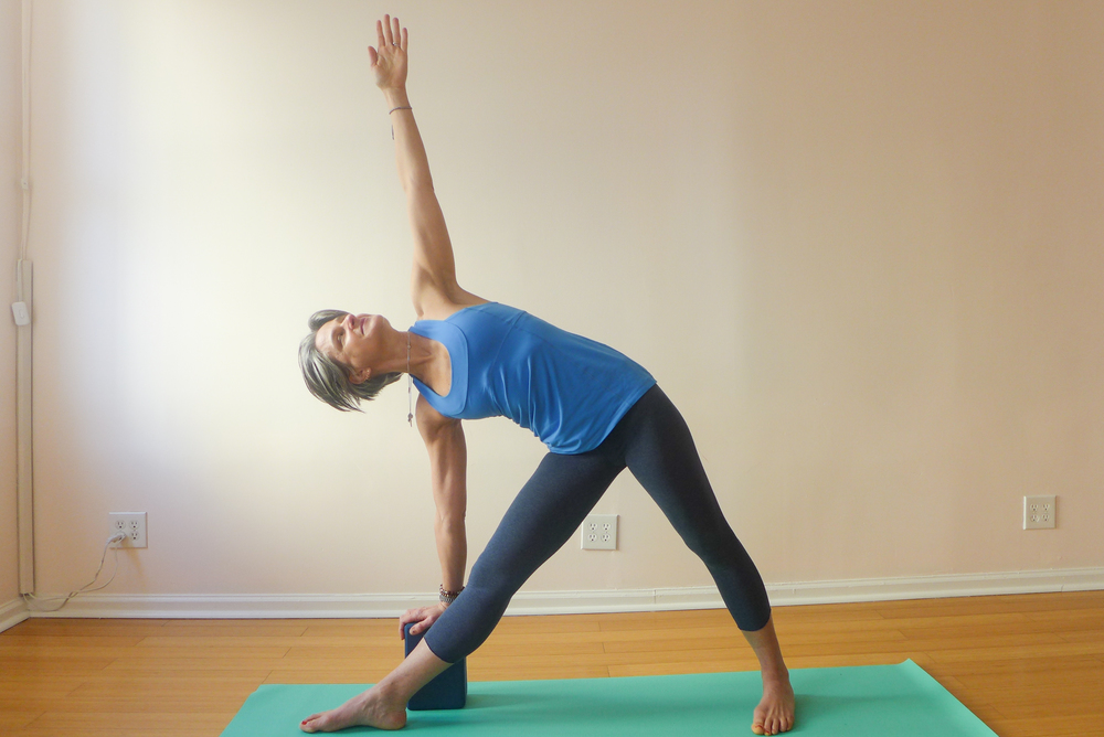 1. TRIANGLE POSE (TRIKONASANA)