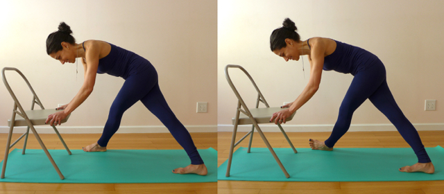 4. PYRAMID POSE WITH FRONT LEG GROSSED (VARIATIONS: FOOT DOWN, FOOT UP)