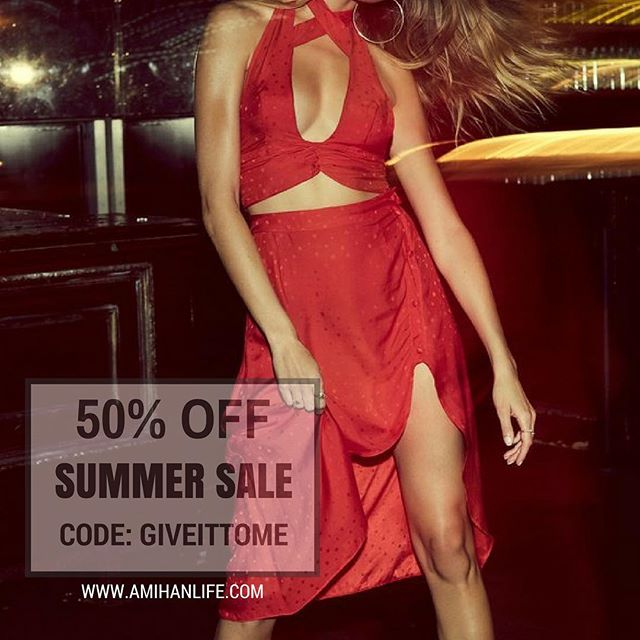 Bikinis, dresses, everything  50% OFF 💋 Code: GIVEITTOME 💫 #amihanlife #summersale #getitgirl #allforyou #treatyoself #summerfashion #summerstyle