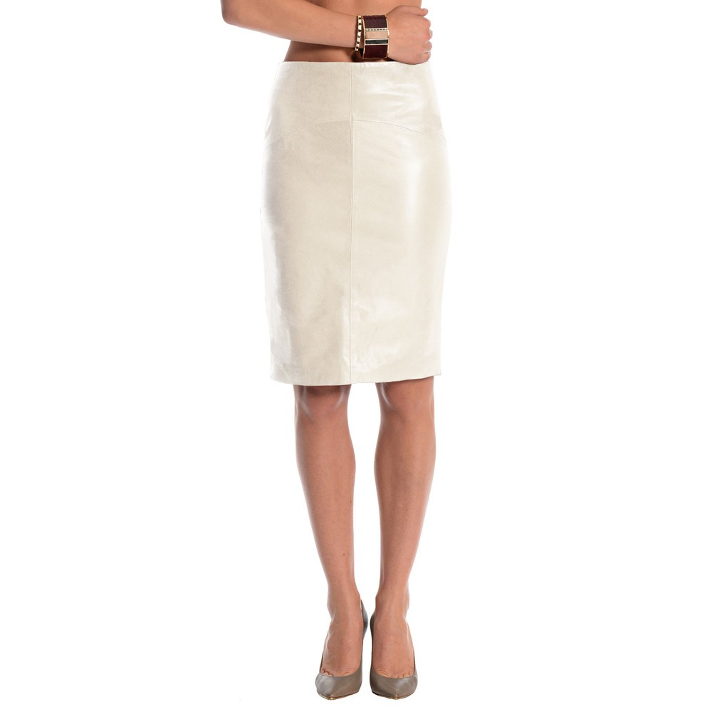 EA leather pencil skirt