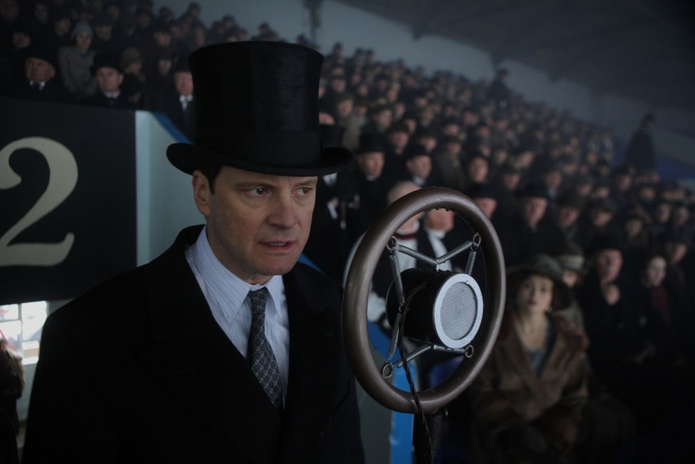 COLIN FIRTH IN THE OSCAR WINNING FILM FOR BEST PICTURE, THE KING'S SPEECH