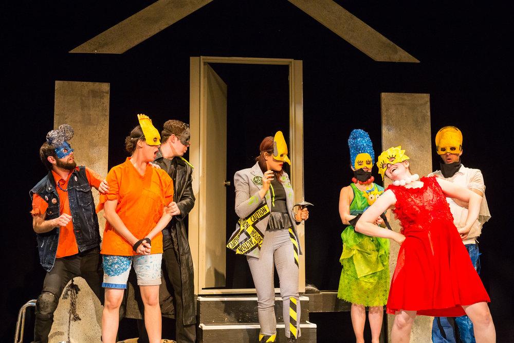 Left to right: Douglas Ennenberg, Keara Barnes, Matt Montgomery, Stephanie Izsak, Liz Kirkland, Cj McGillvary, Graham Coffeng. Photo by Duy Nguyen