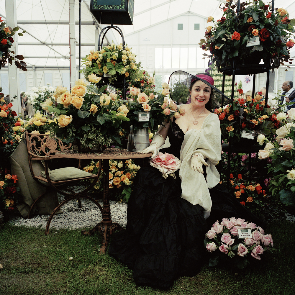 Susan Daniels, rose breeder and opera singer, Chelsea Flower Show