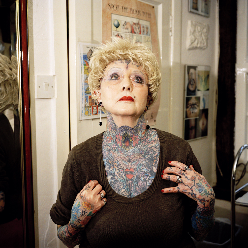 "Isobel Varley, Guiness Book of World Records ""world's most-tattooed senior woman"""