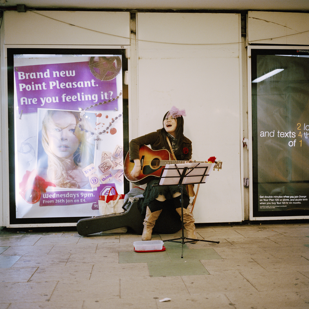 Busker, Old Street, London