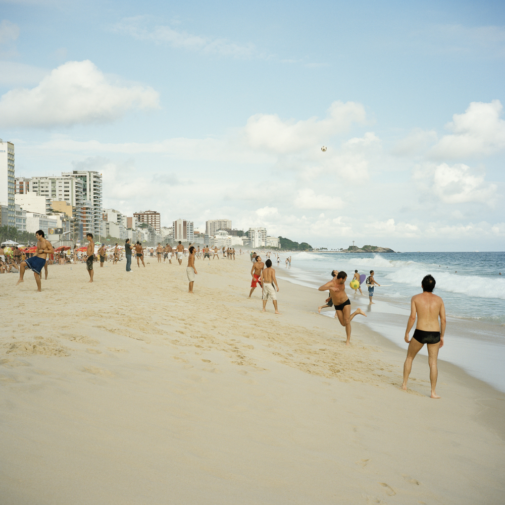 Ipanema Beach. Football.