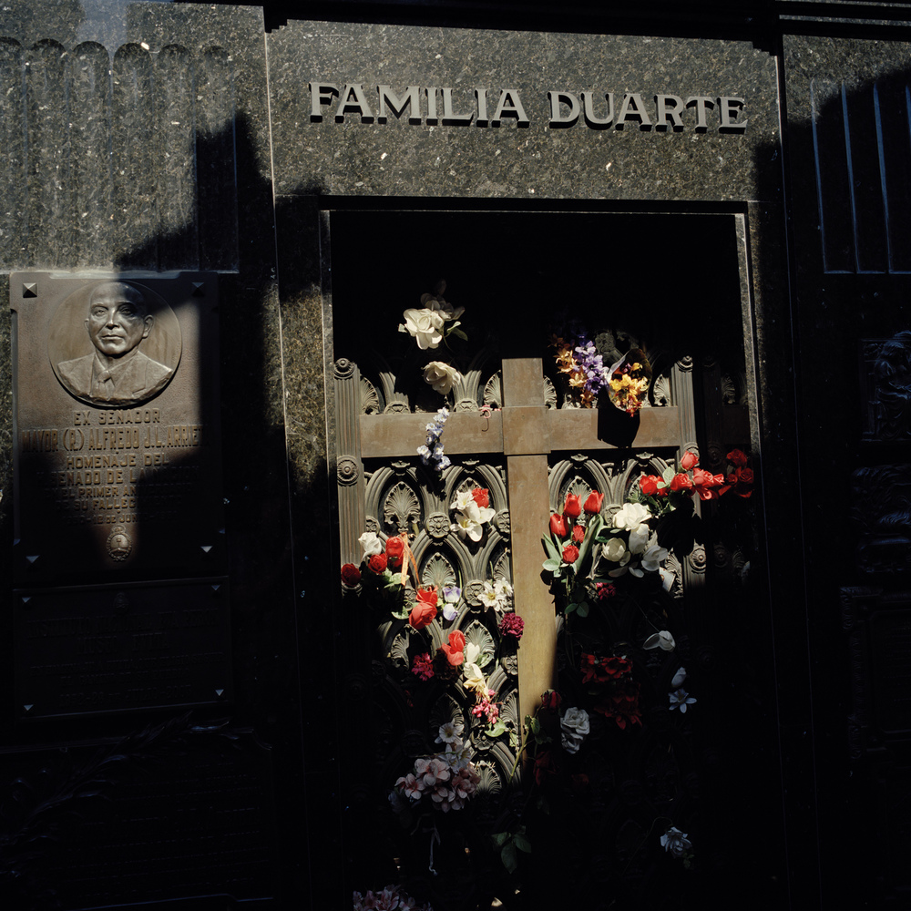 La Recoleta Cemetery. The most well known cemetery in Buenos Aires, where many of the city's most famous and wealthy citizens are buried. Mausoleum of the Duarte Family (Peron).