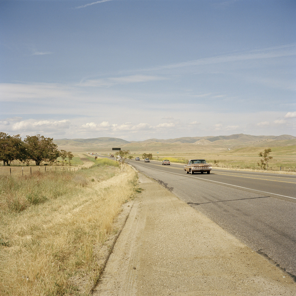 Cholame. Route 46. Site where James Dean died on September 30, 1955.