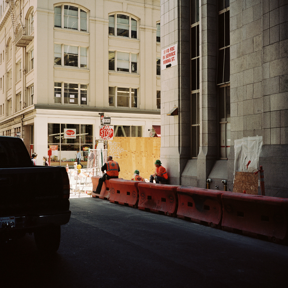 San Francisco. Construction workers.