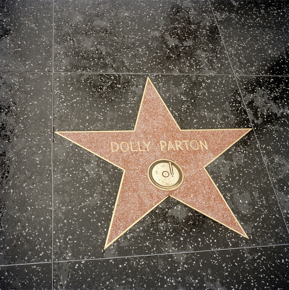 Hollywood. Dolly on the Walk of Fame.