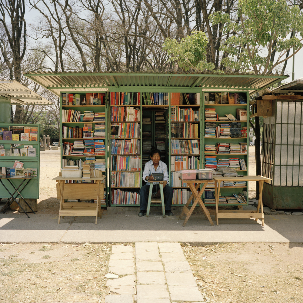 Salta. Book seller in Parque San Martín.