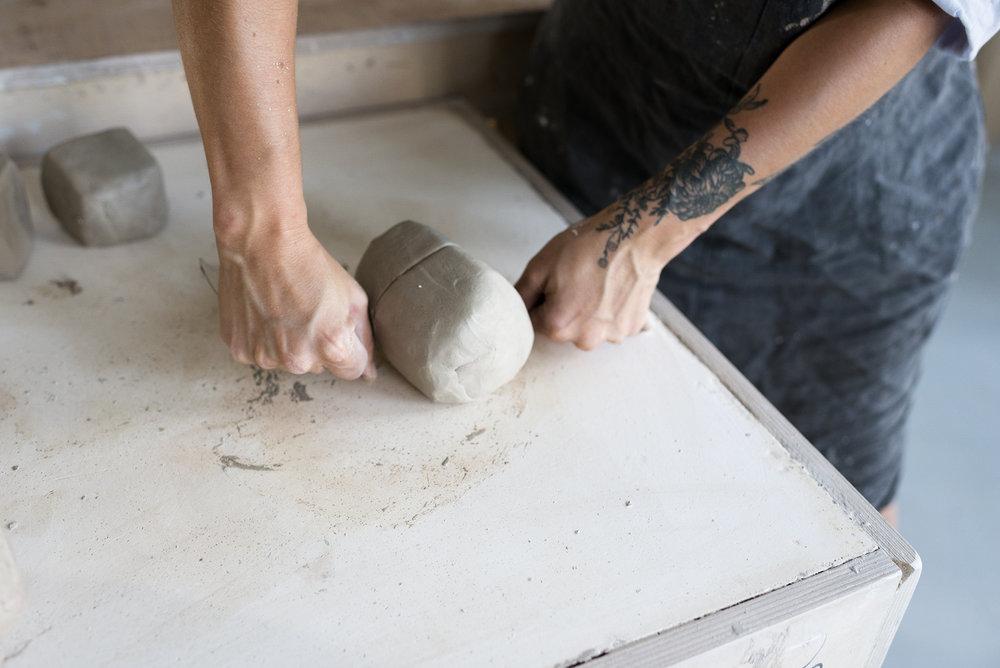 Ceramicist Andrea Roman in her London studio.