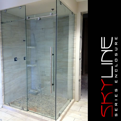 44 heavy skyline slider with return panel - Delta Shower Doors