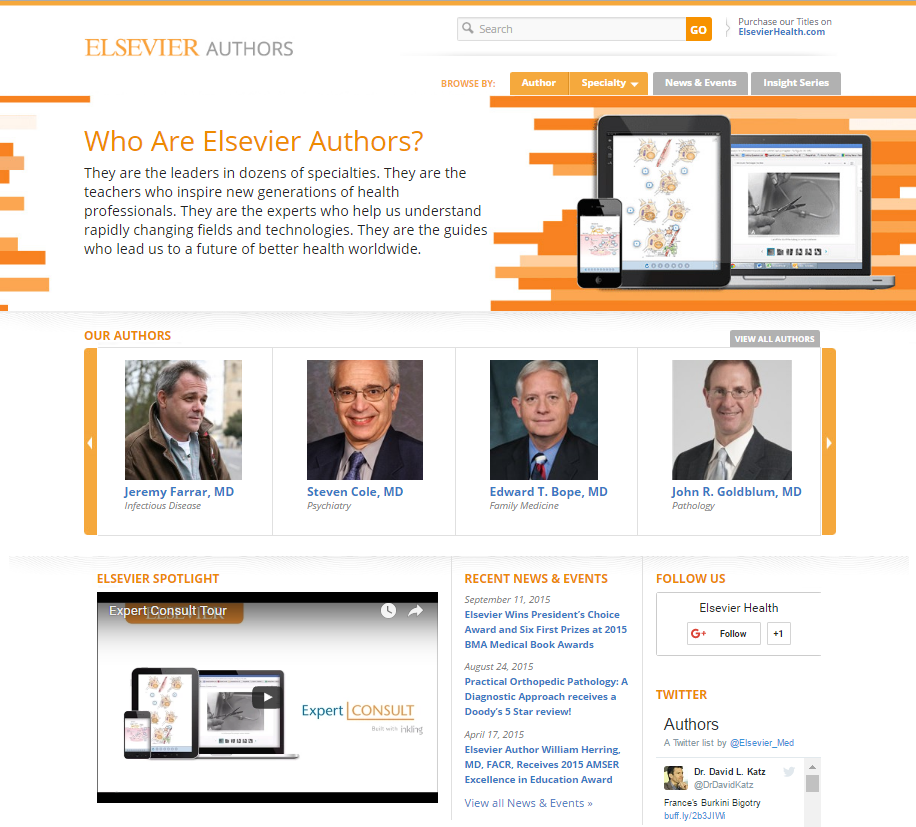 Elsevier Authors homepage