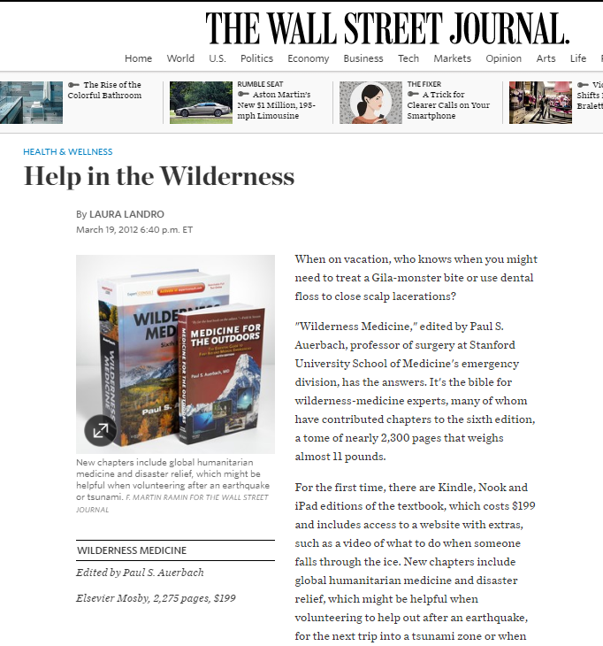 Help in the Wilderness
