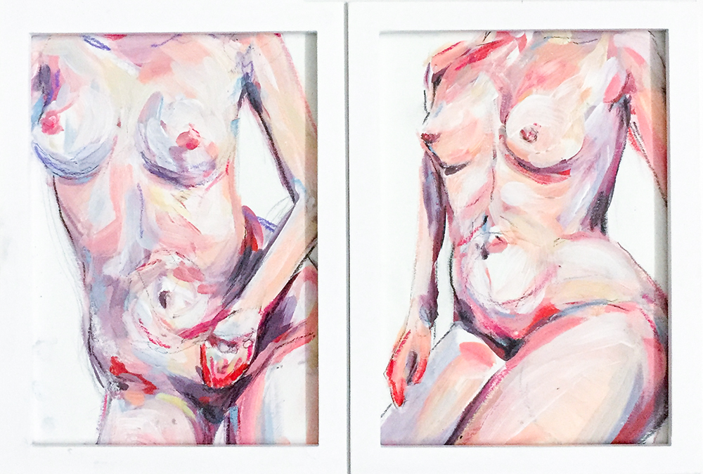 "Acrylic on Paper  5""x 7"" each"
