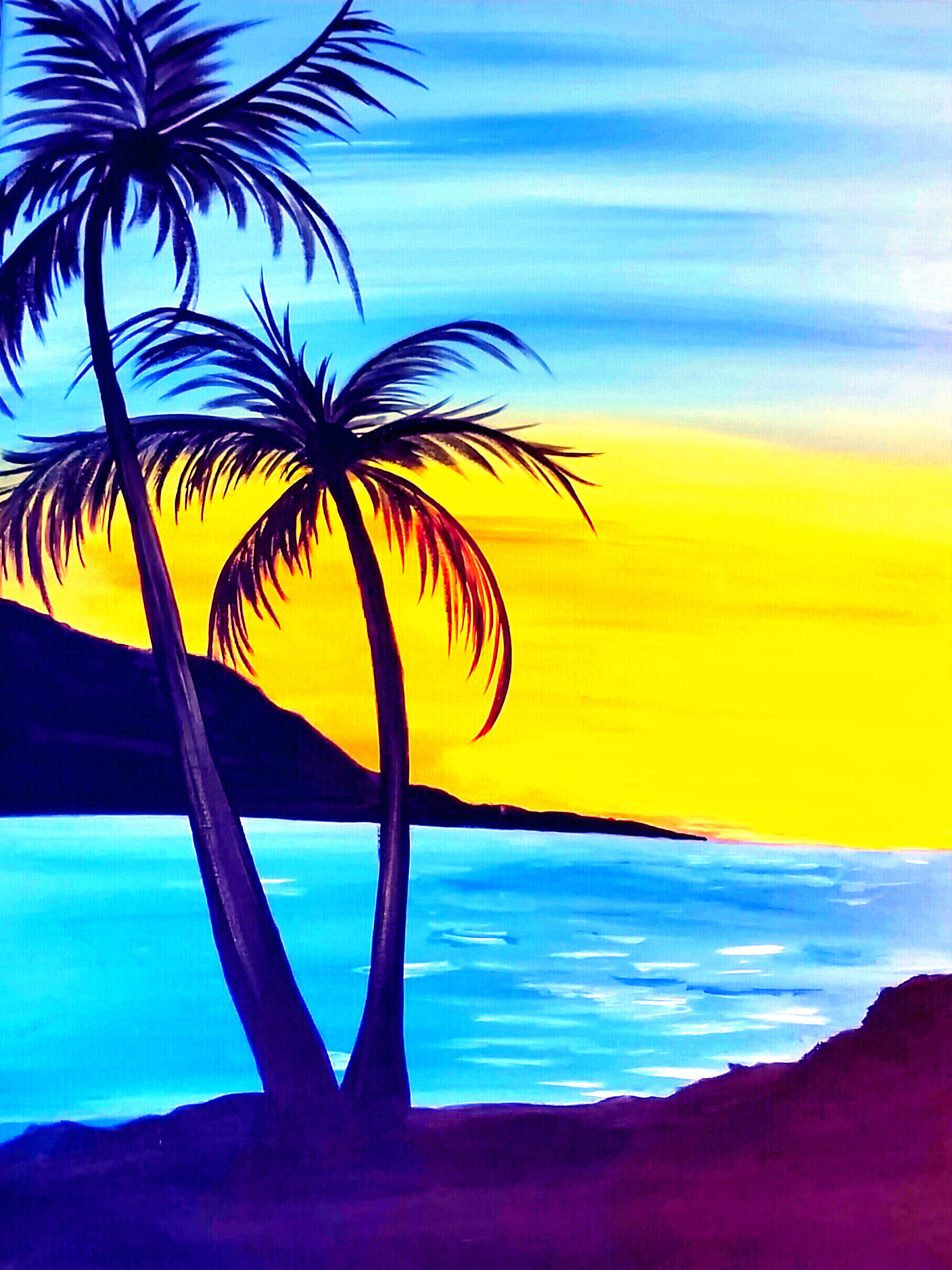 PALM TREE SUNSET By Maria Fraire