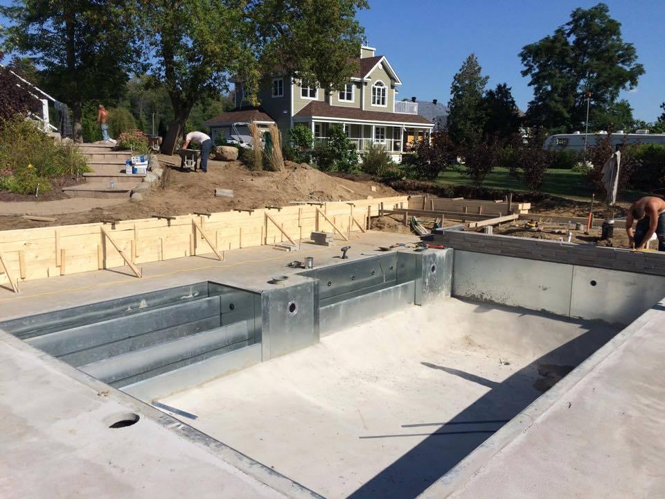 Projets r alis s piscines belcam piscines creus es et for Construction piscine creusee