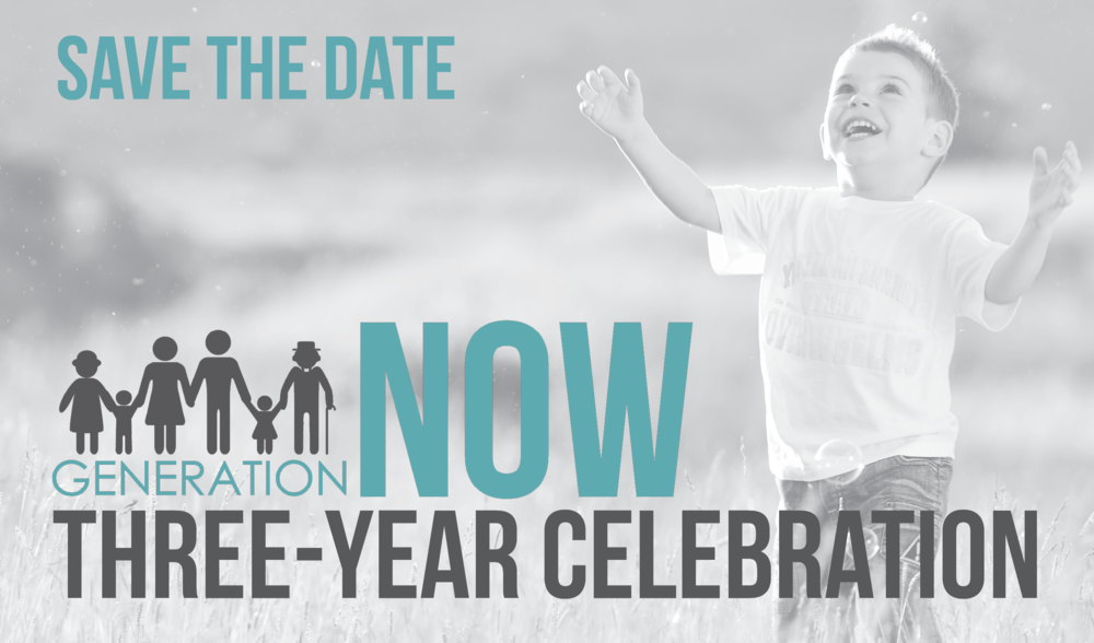 We are celebrating our three-year giving commitment to Generation Now on Sunday February 24, with donuts and coffee in the Antioch Café, a video recap and a gift.