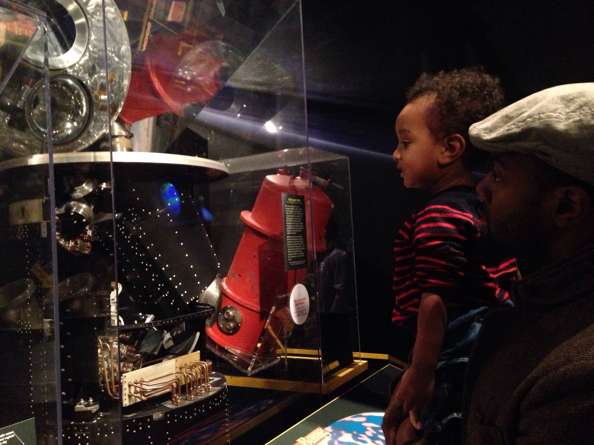It was really great to see Ohm's face light up. He thoroughly enjoyed his trip to the Air and Space Museum. Too young to truly understand what was going on around him, we spent a good hour just looking at the airplanes, spacecrafts and exhibits.