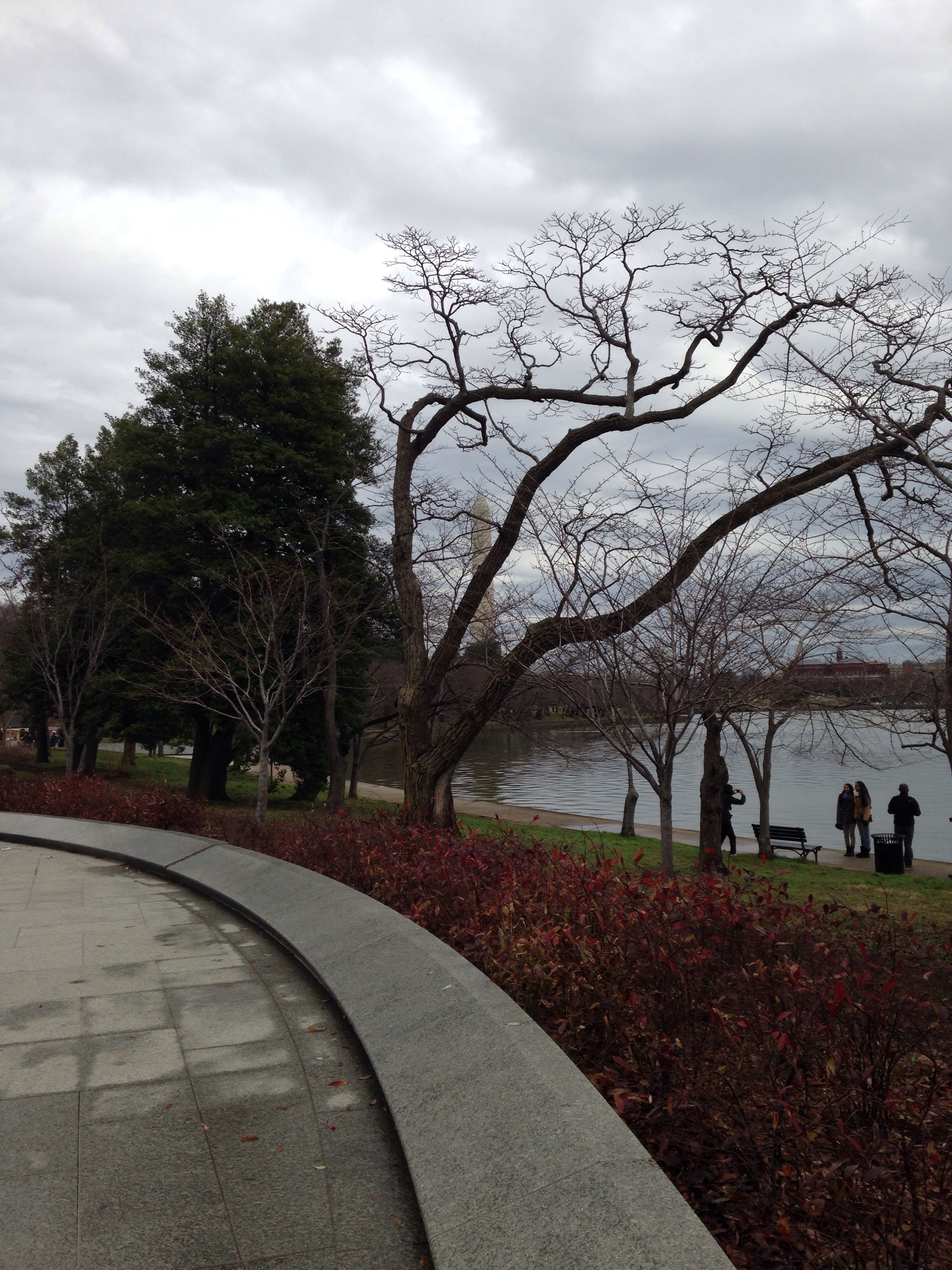 The Potomac in the distance. Parking for the memorial is quite a ways away from the actual memorial. In the winter, that equals one cold walk, but a walk that is well worth it.