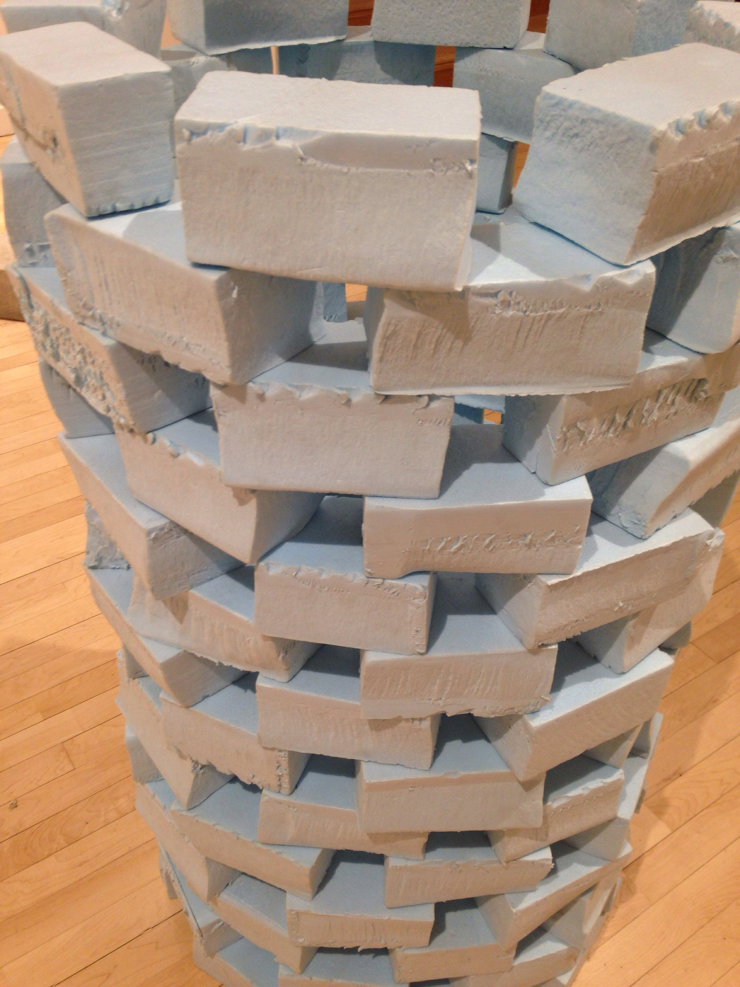 A tower of cartons