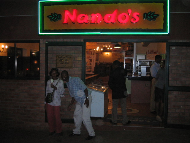 Everybody tried to get us to go to Nandos. It was as if it were the only option for food in all of Manzini.