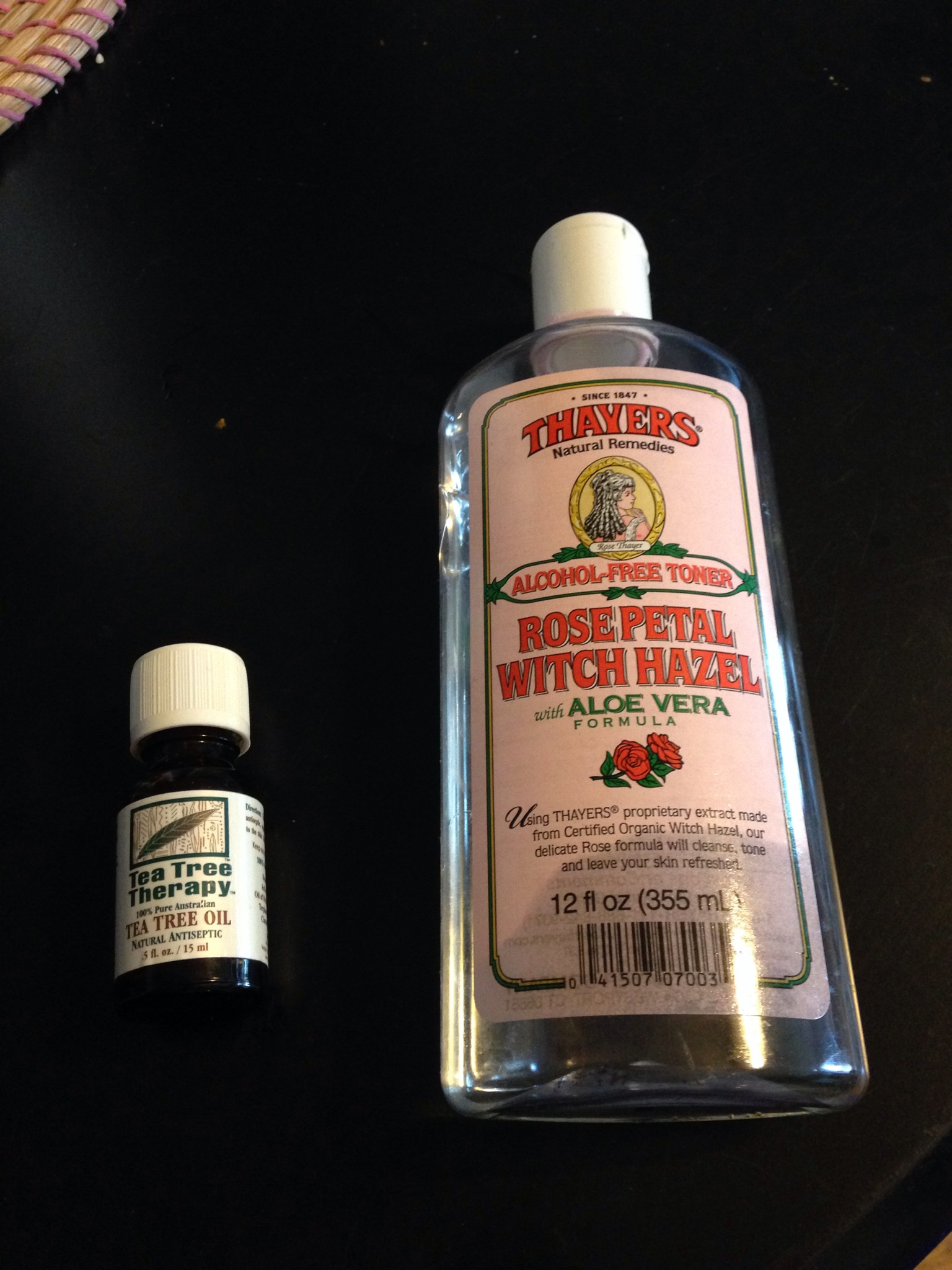 I like to use this rose and aloe infused witch hazel, but the regular one will work just fine too. If you like infused witch hazel, the lavender witch hazel is fabulous as well.