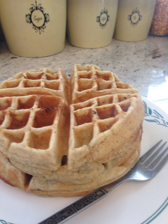 lavender buttermilk waffles