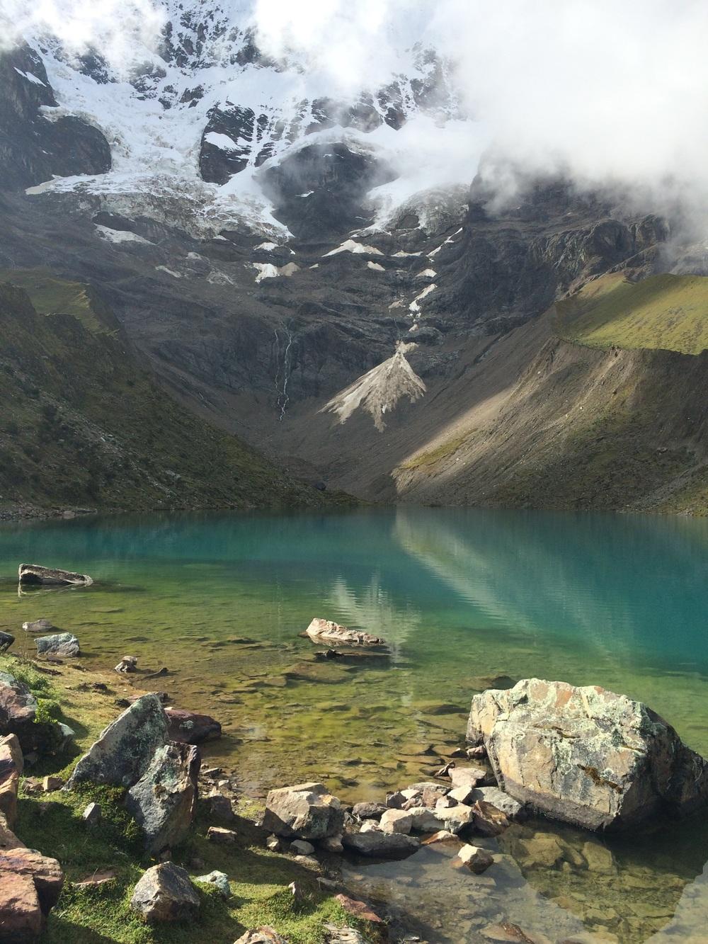 Lake beneath Salcantay Glaciar