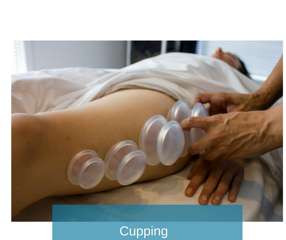 Myofascial Cupping  - Release tensions from 'sticky' areas to allow better movement through layers of skin and muscle. Great for scar tissue work!