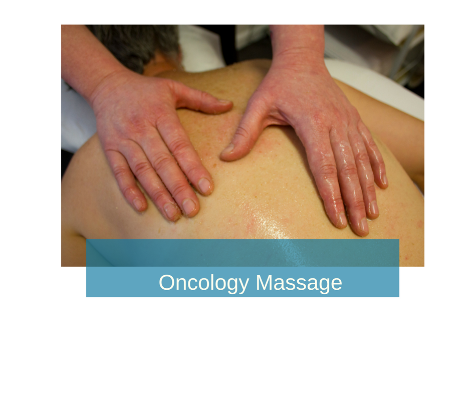 Oncology Massage - Light touch, nurturing massage that takes into account treatment and post-treatment implications of cancer such as surgery, lymph node removal, implanted devices, chemotherapy, pain and fatigue.