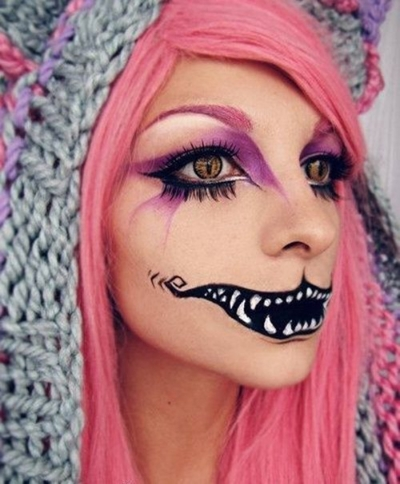 So creepy and creative!  This cheshire cat is from Archaical