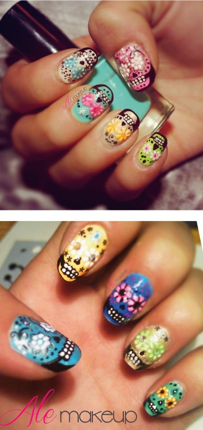 Skull and Skeleton Nail Art that Will Thrill You to the Bone (With ...