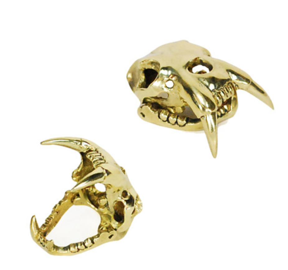 Saber Skull Brass Ring