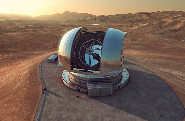 Chile's E-ELT: built to spot aliens| Photo: Wikimedia Creative Commons/ESO/L. Calçada