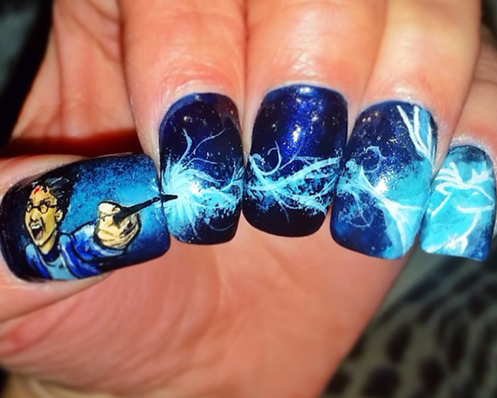 12 Harry Potter Nail Art Designs to Conjure Your Inner Witch or ...