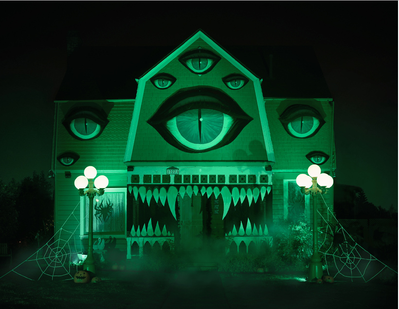 Photo: Christine McConnell; After dark, this monster house really comes to life.
