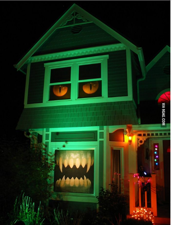 Another Take on the Monster House. This one uses the windows to create the monster effect.