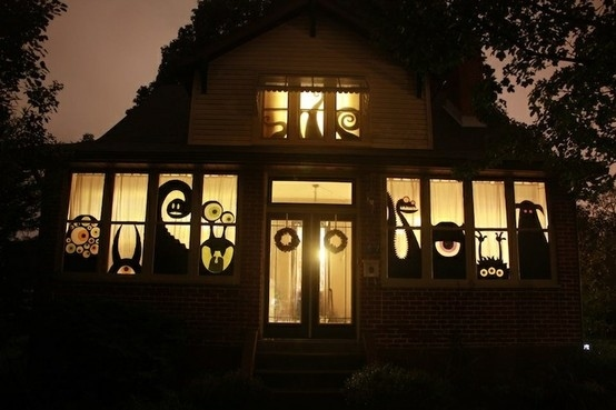 14 peekaboo - Pictures Of Houses Decorated For Halloween
