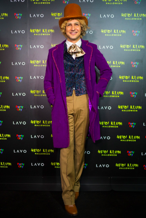 Zac Posen as Willy Wonka from  Charlie and the Chocolate Factory.